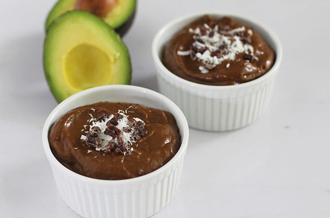 No Sugar Added Chocolate Avocado Pudding