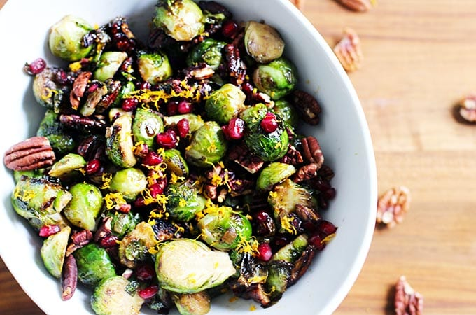 A Colorful Side Dish: Orange Balsamic Glazed Brussel Sprouts