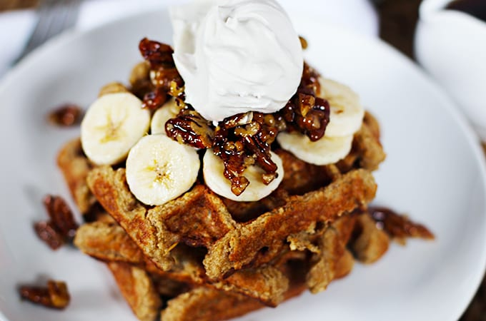 banana waffles featured