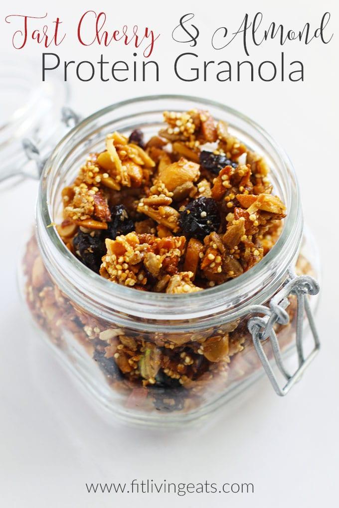Tart Cherry & Almond Protein Granola {vegan/gluten free ...