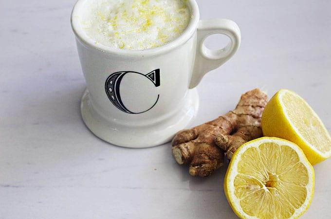 My Favorite Hot Lemon Ginger Detox Tonic