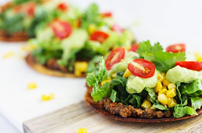 Mexican Pizza with Avocado Cream {Vegan}