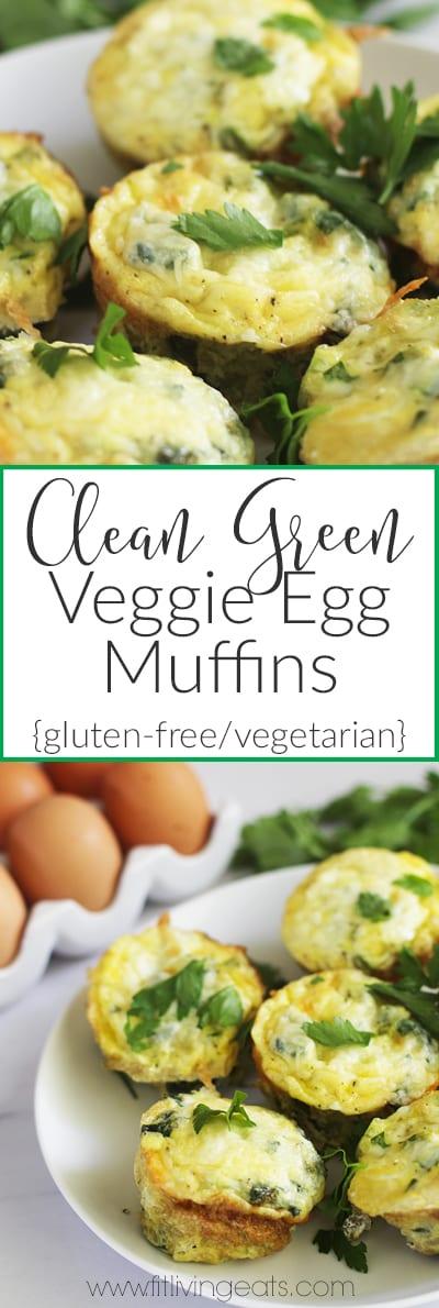 Clean Green Veggie Egg Muffins | fitlivingeats.com