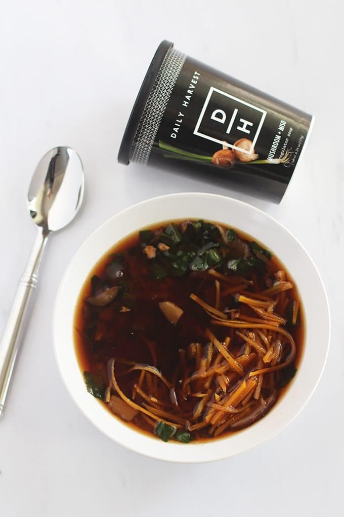 Mushroom + Miso 30-Second Superfood Soup via Daily Harvest