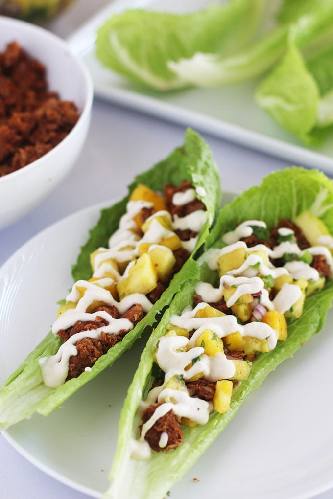 Lentil Walnut Tacos with a Pineapple Mango Salsa | FitLiving Eats
