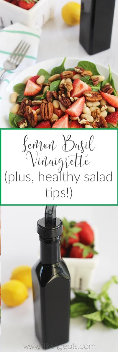 lemon basil vinaigrette pinterest
