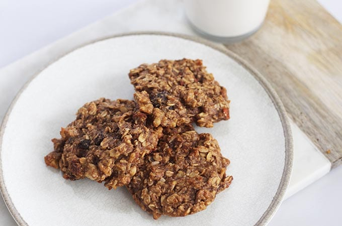 Gluten Free Vegan Oatmeal Breakfast Cookies