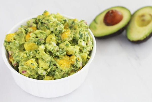 mango pineapple guacamole featured