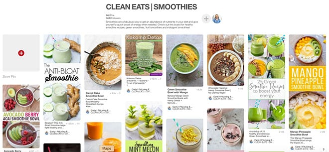 FitLiving Eats smoothie pinterest board