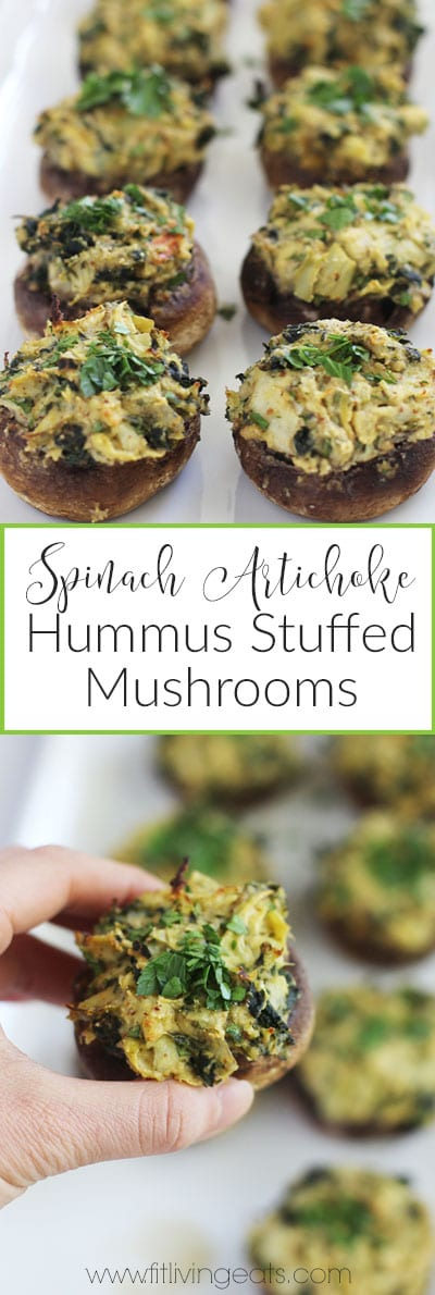 spinach artichoke hummus stuffed mushrooms pinterest