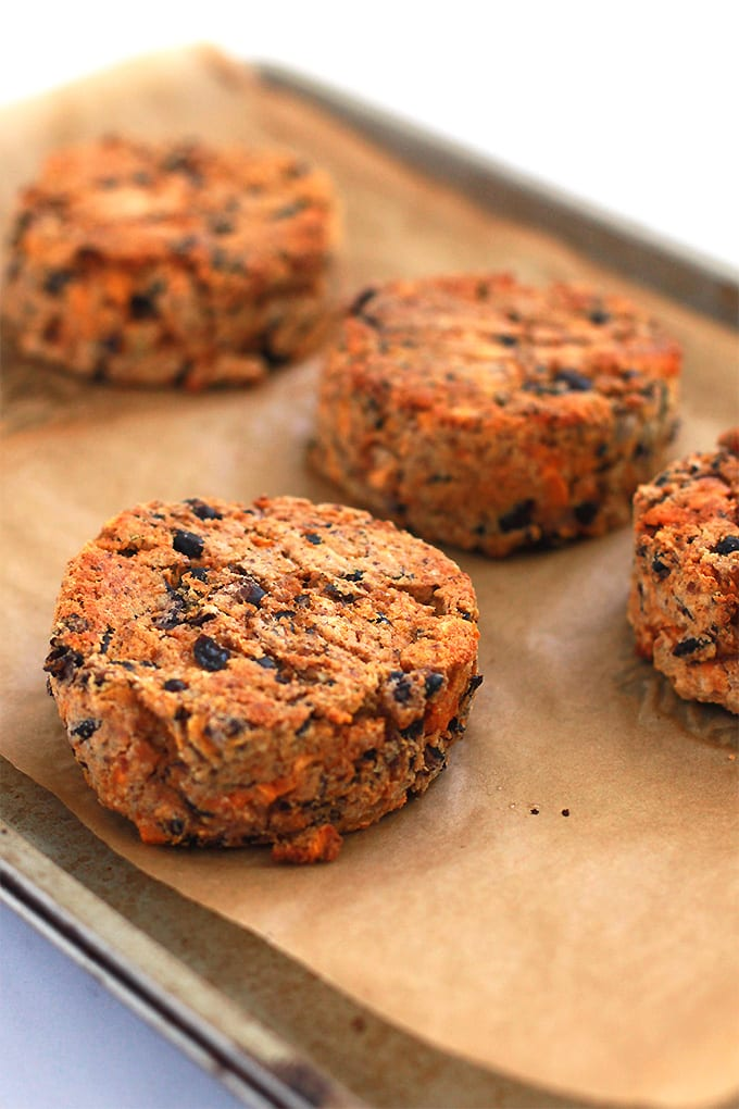 Sweet Potato and Black Bean Burgers for Meatless Monday! (vegan + gluten free)