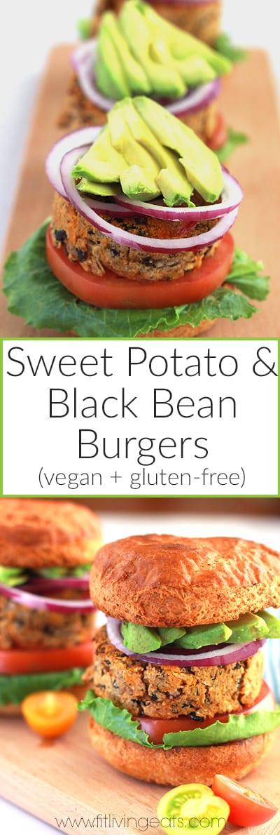 The BEST sweet potato and black bean burgers (vegan + gluten-free)