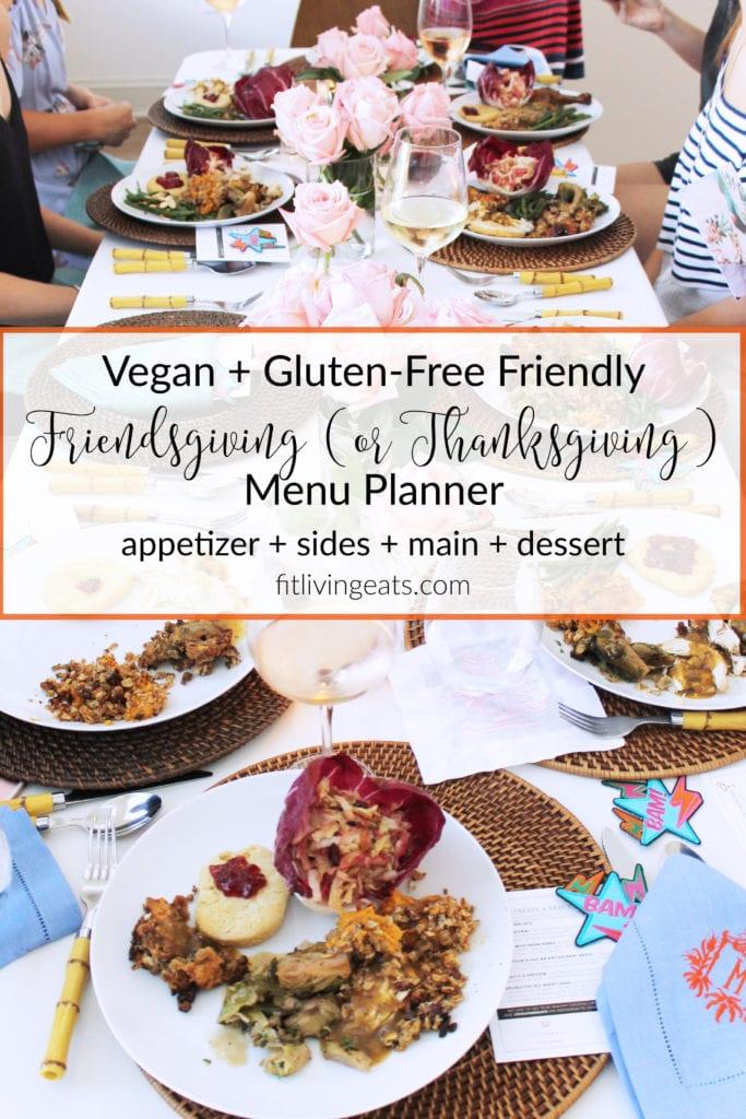 Vegan + Gluten-Free Friendly Thanksgiving Menu Planner