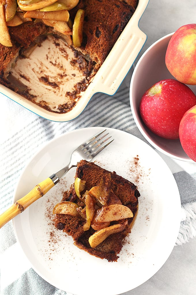 Upside Down Apple French Toast