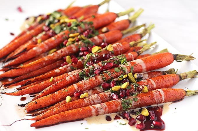Roasted Carrots with a Pomegranate Glaze