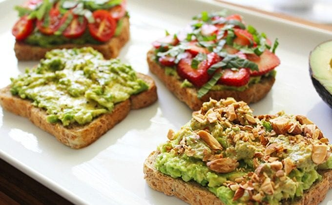 Avocado Toast 4 Ways - FitLiving Eats by Carly Paige 1