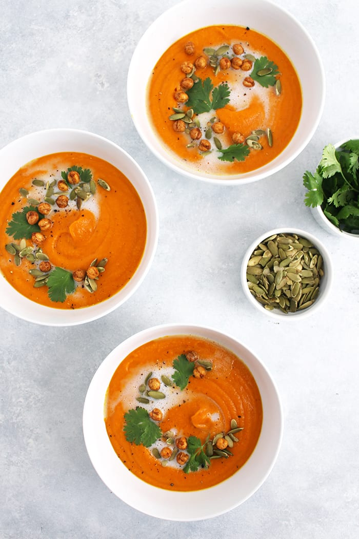 FitLiving Eats by Carly Paige - roasted carrot butternut squash soup 3
