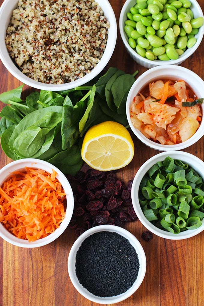 Asian Power Bowl with Ginger Miso Dressing