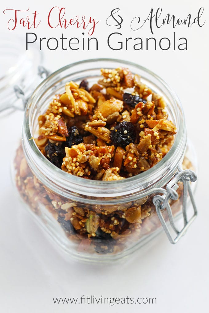 Tart Cherry and Almond Protein Granola || FitLiving Eats