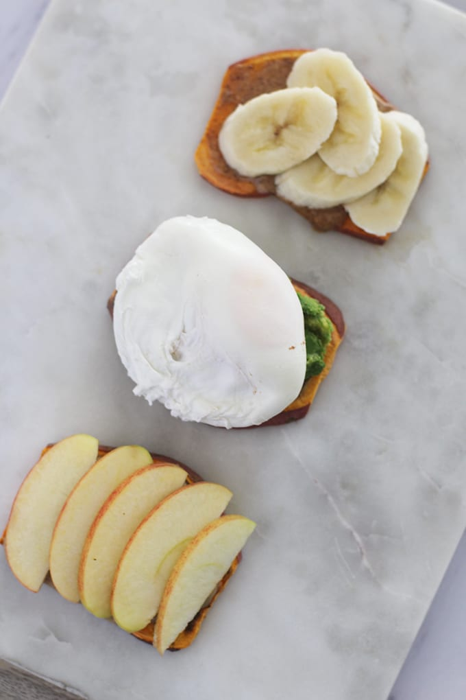 Sweet Potato Toast Three Ways | FitLiving Eats