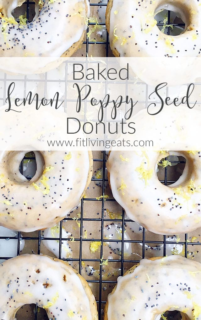 Baked Lemon Poppy Seed Donuts with a Lemon Glaze | FitLiving Eats