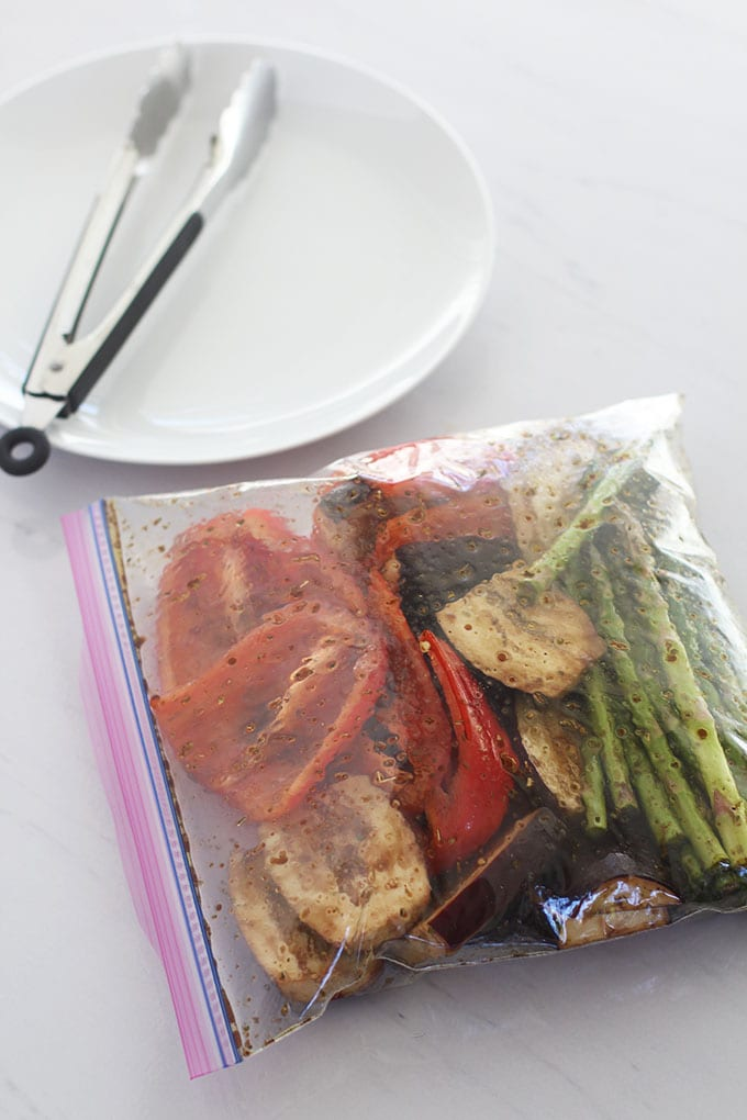 Simply Grilled Vegetables with a Garlic Herb Dipping Oil | FitLiving Eats