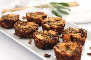Lentil Stuffing Muffins - the perfect Thanksgiving menu or side that is vegan and gluten-free friendly!