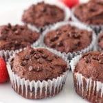 double chocolate sweet potato brownie muffins