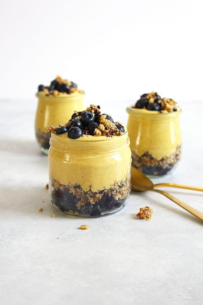 Vegan GLOW Golden Milk Yogurt Parfait w/ Rawnola