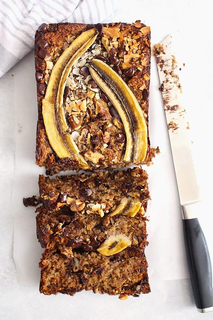 FitLiving Eats by Carly Paige - Sweet Treats Recipe Roundup -chunky-monkey-banana-bread-2