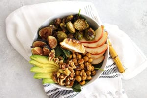 FitLiving Eats by Carly Paige - fig balsamic power bowl featured
