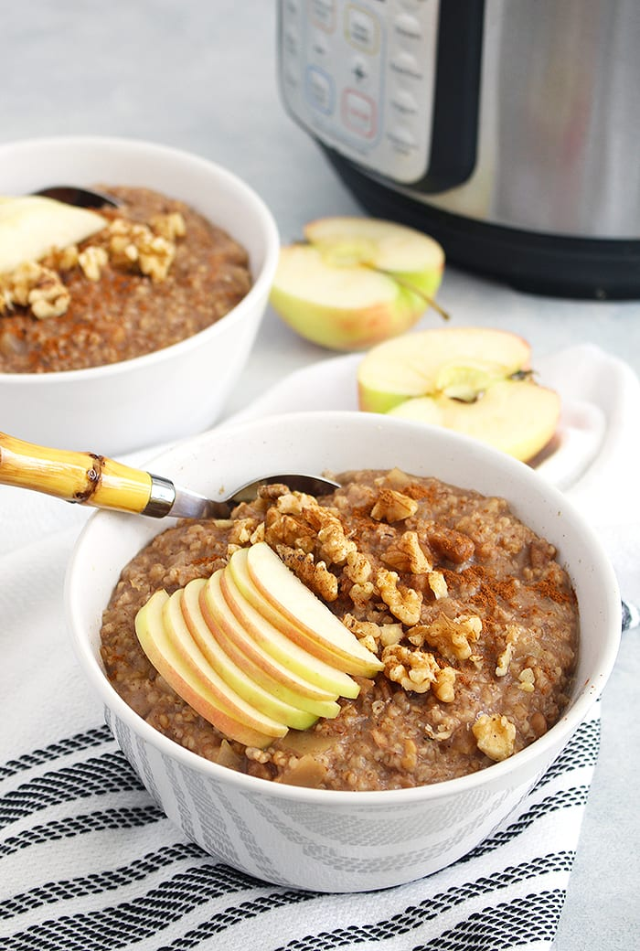 FitLiving Eats by Carly Paige - Recipe - Instant Pot apple cinnamon steel cut oats 4