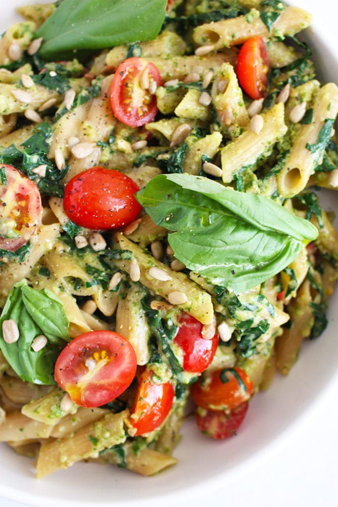 5 ingredient pesto pasta - FitLiving Eats by Carly Paige - 2
