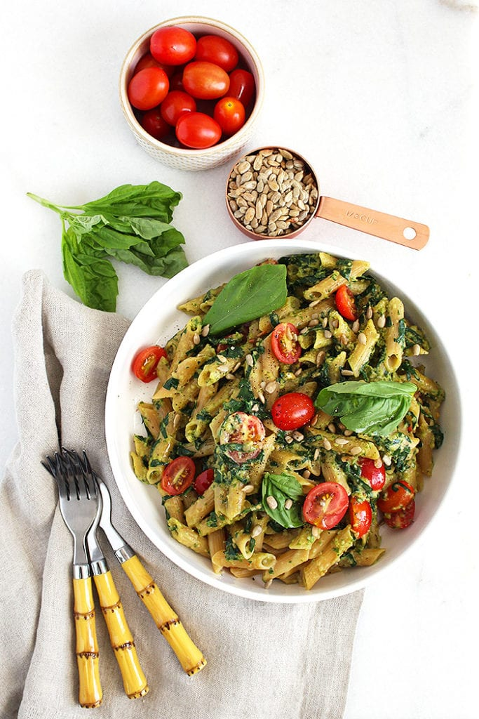 Boost Your Immune System Against Coronavirus - Recipes | 5-Ingredient Nut-Free Pesto Pasta