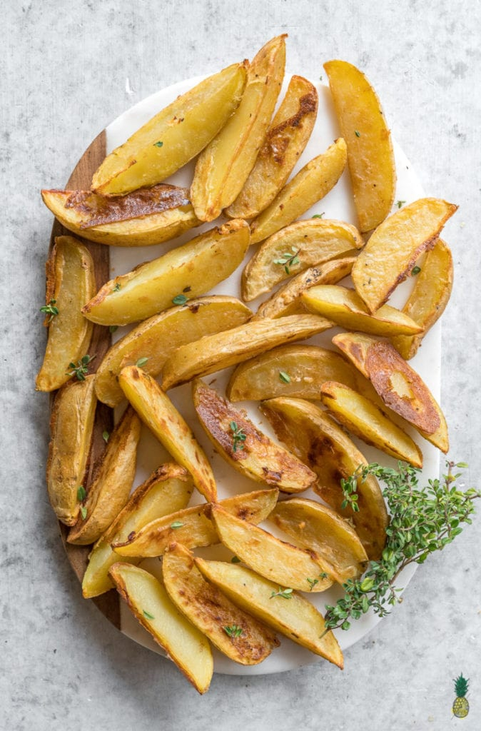 FitLiving Eats by Carly Page - 23 Vegan Superbowl Snacks - Baked_Mojo_Fries_Sweet_Simple_Vegan