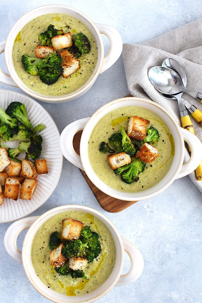 FitLiving Eats by Carly Paige - Recipe - broccoli cheddar soup 4