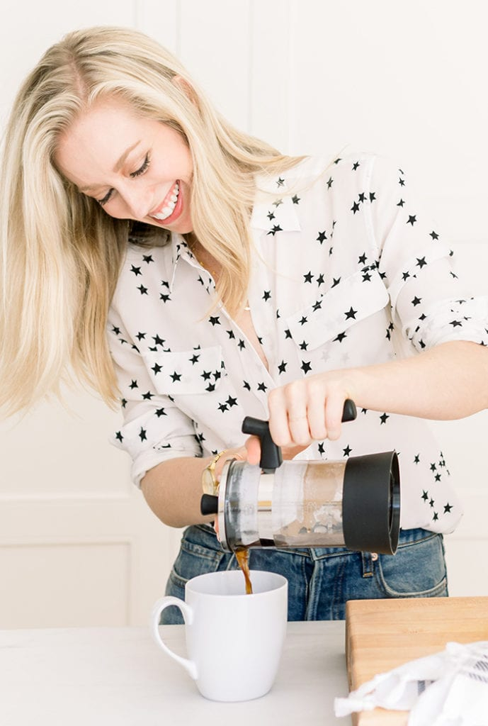 FitLiving Eats by Carly Paige - Simple Swaps for Healthy Morning - coffee