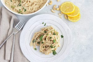 FitLiving Eats by Carly Paige - Recipe - cauliflower vegan alfredo featured