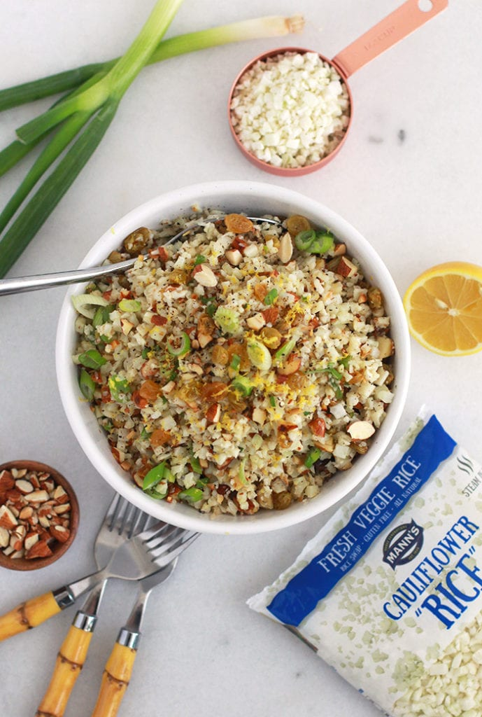 FitLiving Eats by Carly Paige - Recipe - zesty cauliflower rice pilaf 1