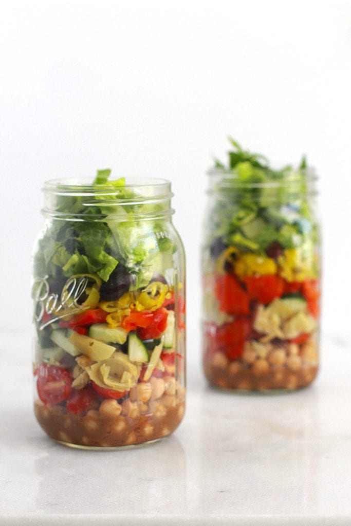 antipasto mason jar salad 2 FitLiving Eats by Carly Paige