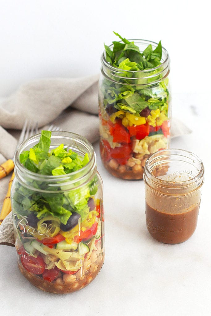 antipasto mason jar salad 3 FitLiving Eats by Carly Paige