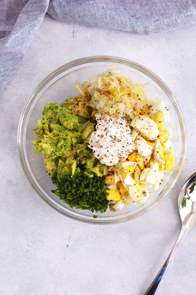 avocado egg salad 1 Recipe - FitLiving Eats by Carly Paige