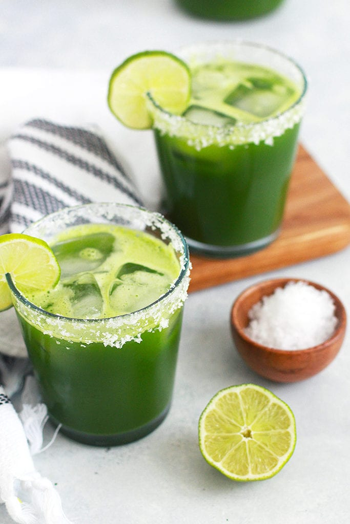 green margarita mocktail 2 - recipe - FitLiving Eats by Carly Paige