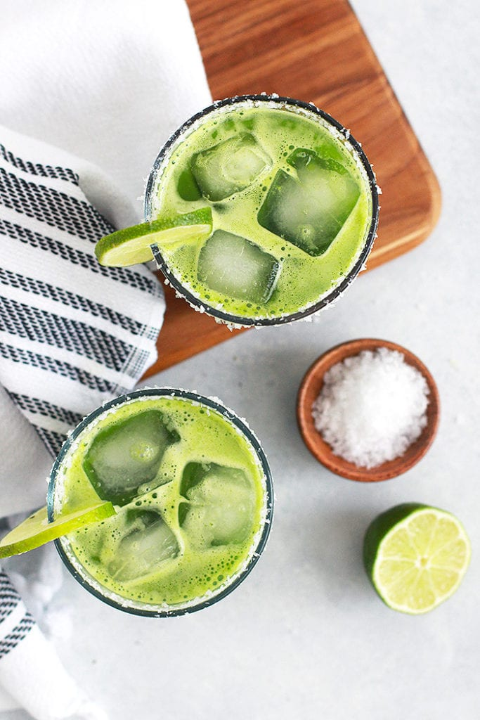 green margarita mocktail 4 - recipe - FitLiving Eats by Carly Paige