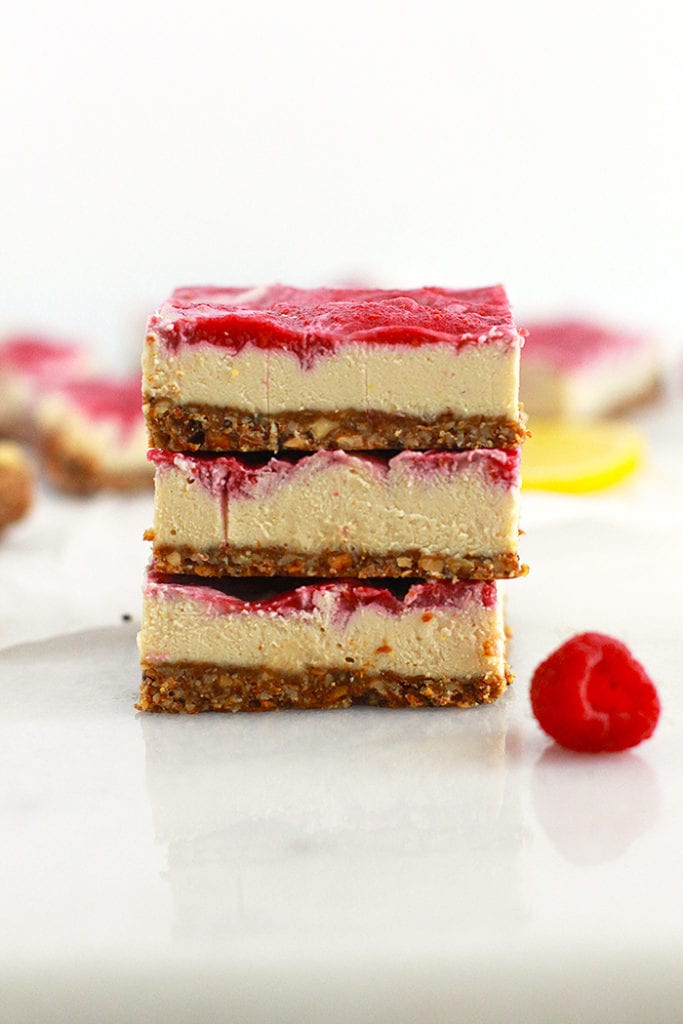 lemon raspberry cheesecake bars 2 FitLiving Eats by Carly Paige