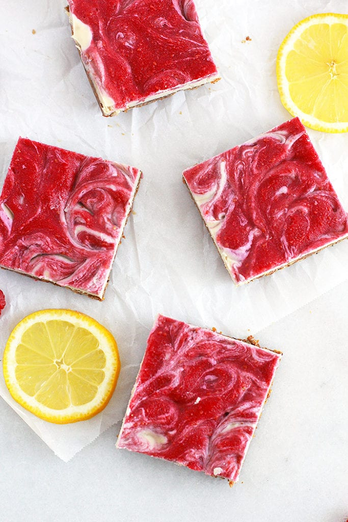lemon raspberry cheesecake bars 3 FitLiving Eats by Carly Paige