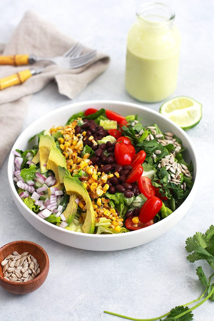 mexican cobb salad 2 recipe - FitLiving Eats by Carly Paige