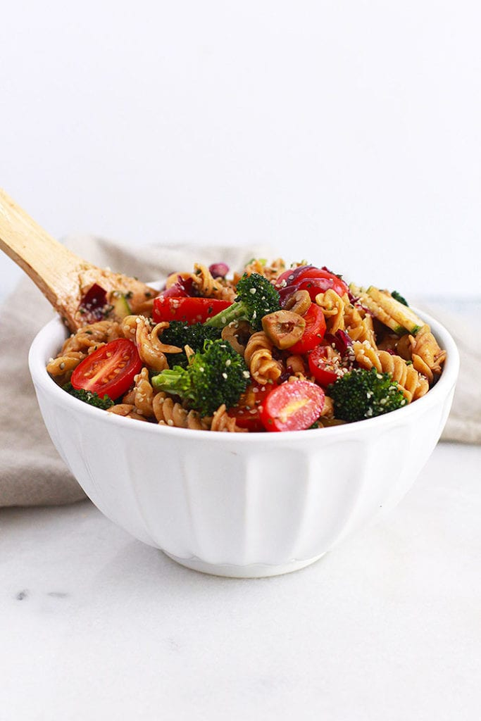 protein pasta salad 1 Recipe FitLiving Eats by Carly Paige
