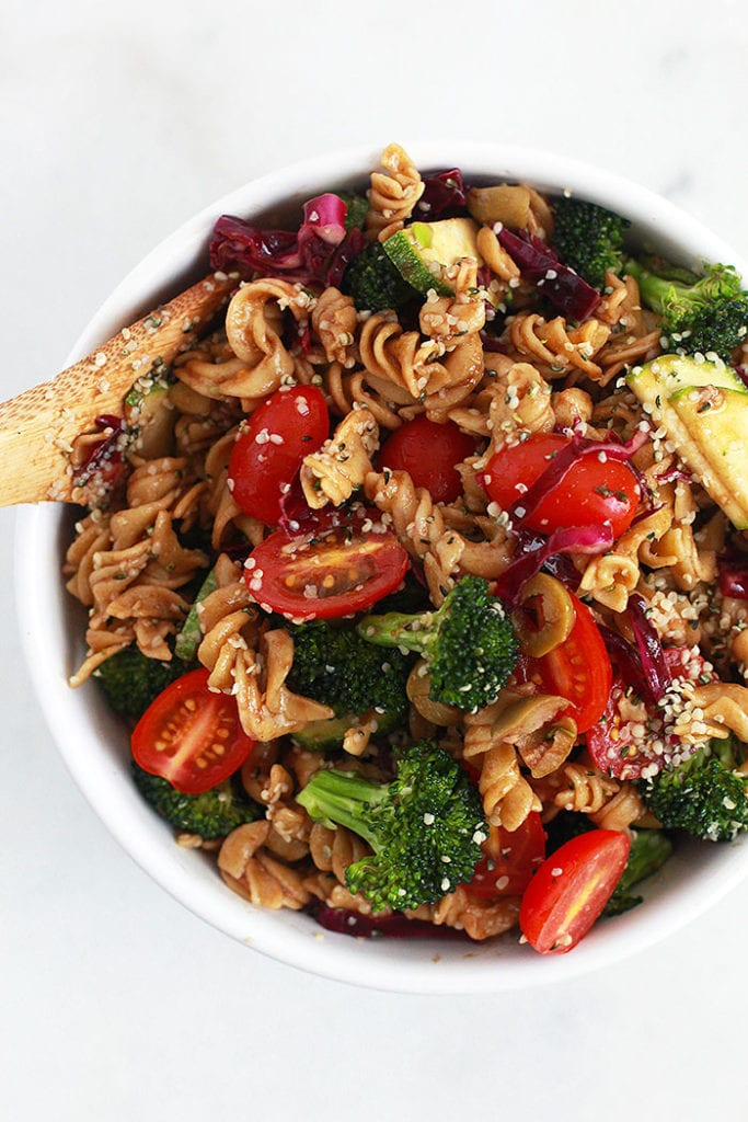 protein pasta salad 2 Recipe FitLiving Eats by Carly Paige
