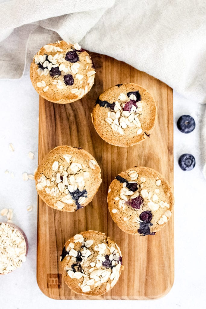Bakery-Style Almond Blueberry Muffins Gluten Free Recipe 5 - FitLiving Eats